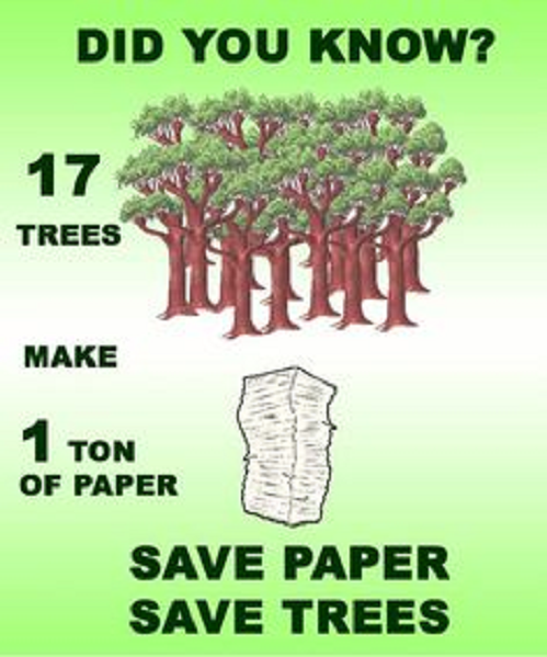 DocuWare - 17 Trees make 1 ton of paper - save paper save trees